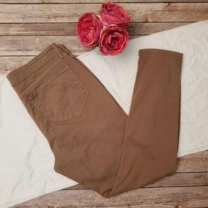 NYDJ Alina Leggings Jeans Beige Stretch Size 14